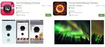 Dianggap berbahaya, aplikasi Sun Pro Beauty Camera dan Funny Sweet Beauty Selfie Camera dihapus dari Google Play Store. Foto: gadget 360