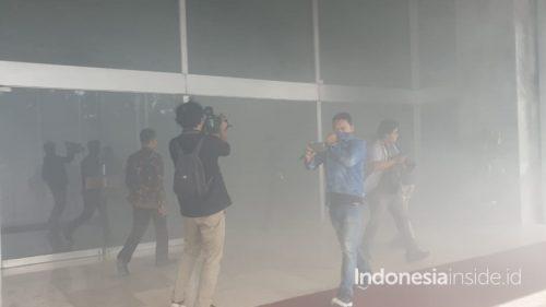 Gedung Nusantara III Kompleks Parlemen DPR, mengalami kebakaran, Jakarta. Foto: Muhajir/Indonesiainside.id